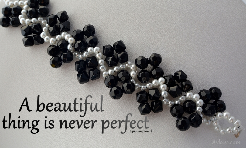Waves And Zig Zags Bracelet A Beautiful Thing Is Never Perfect Beading Tutorial Aylake Ailaviu
