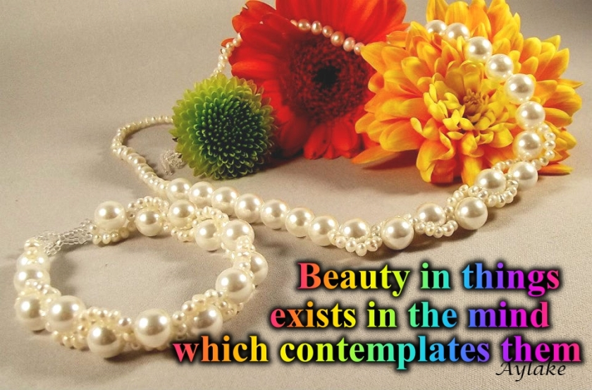 Waves Around Pearls Bracelet Beauty in things exists in the mind which contemplates them Beading Tutorial Aylake Ailaviu