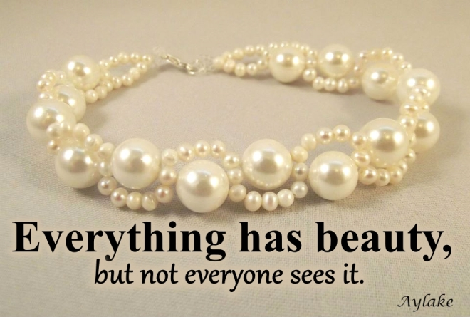Waves Around Pearls Bracelet Everything has beauty but not everyone sees it Beading Tutorial Aylake Ailaviu