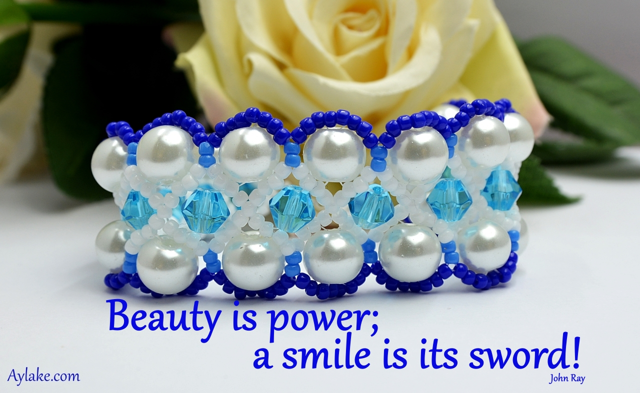 Wonderful Necklace Bracelet Beauty is power a simile is its sword Beading Tutorial Aylake Ailaviu