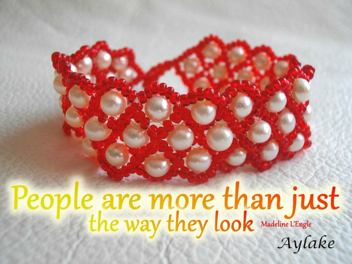 Wonderful Necklace Bracelet People are more than just the way they look Beading Tutorial Aylake Ailaviu
