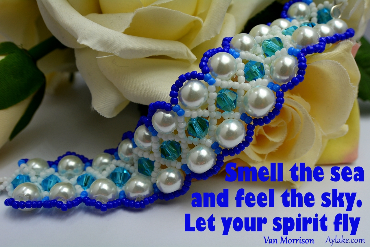 Wonderful Necklace Bracelet Smell the sea and feel the sky let your spirit fly Beading Tutorial Aylake Ailaviu