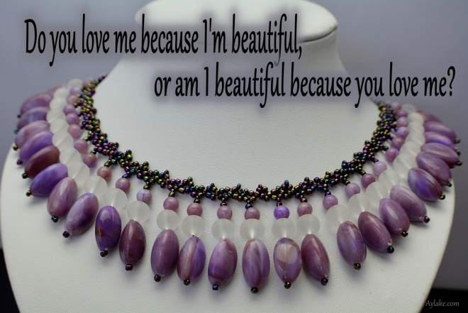 Abigail Necklace Do you love me because Im beautiful Beading Tutorial Ailaviu Aylake
