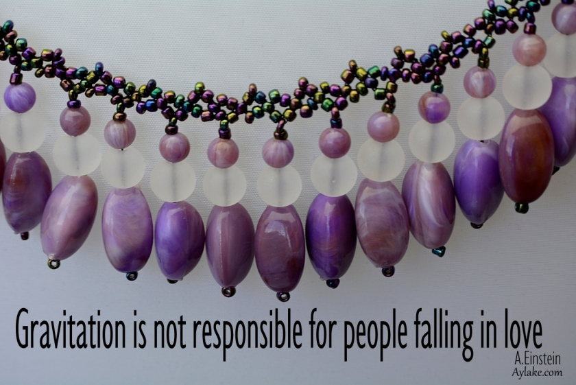 Abigail necklace Gravitation is not responsible for people falling in love Beading Tutorial Ailaviu Aylake