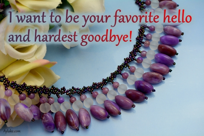 Abigail necklace I want to be your favorite hello and hardest goodbye beading tutorial ailaviu aylake