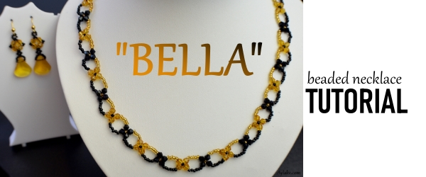 Bella Beaded Necklace beaded tutorial Ailaviu Aylake