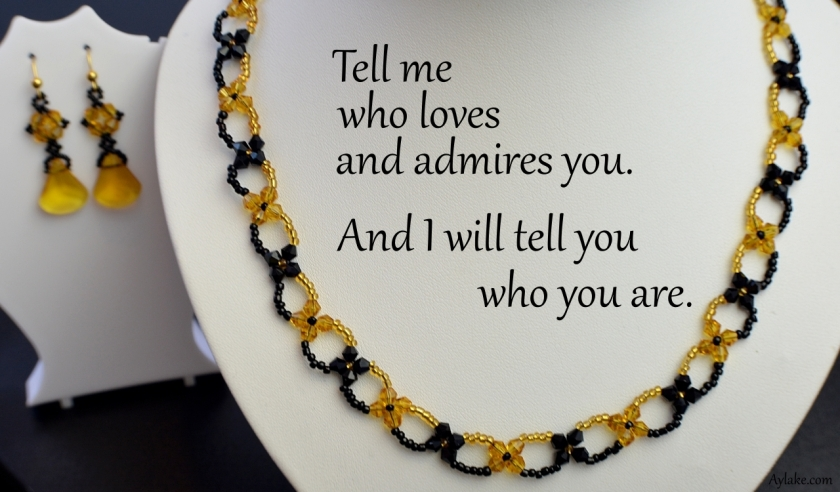 Bella Necklace Tell me who admires and loves you and i will tell you who you are beading tutorial aylake ailaviu