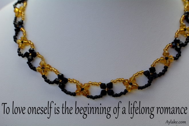 Bella Necklace To love oneself is the beginning of a lifelong romance Beading Tutorial Aylake Ailaviu