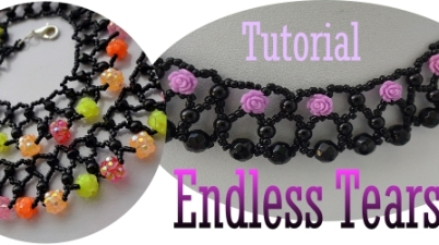 Endless Tears Beaded Necklace Animated Beading Tutorial Aylake Ailaviu 0