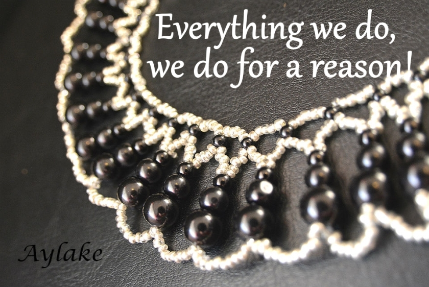 Endless Tears Necklace Everything we do we do for a reason Beading tutorial Aylake Ailaviu