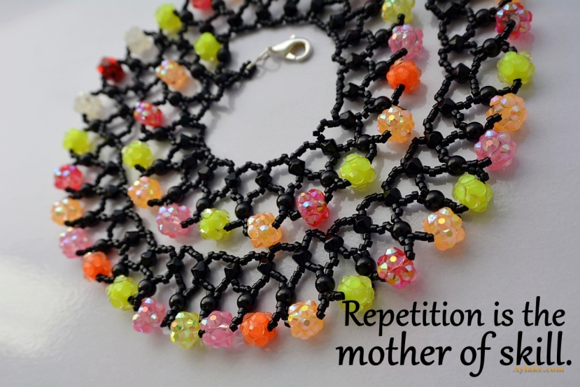 Endless Tears Necklace Repetiton is the mother of skill beading tutorial aylake ailaviu