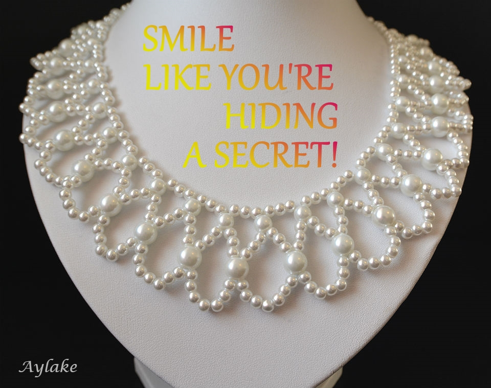 Endless Tears Necklace Smile like youre hiding a secret Beading tutorial Aylake Ailaviu