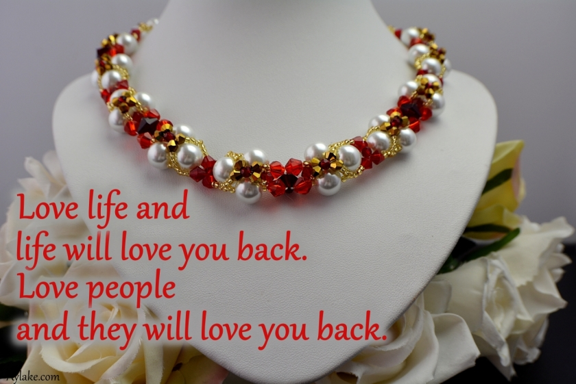 Evalyn Necklace Love life and life will love you back Beading tutorial Aylake Ailaviu