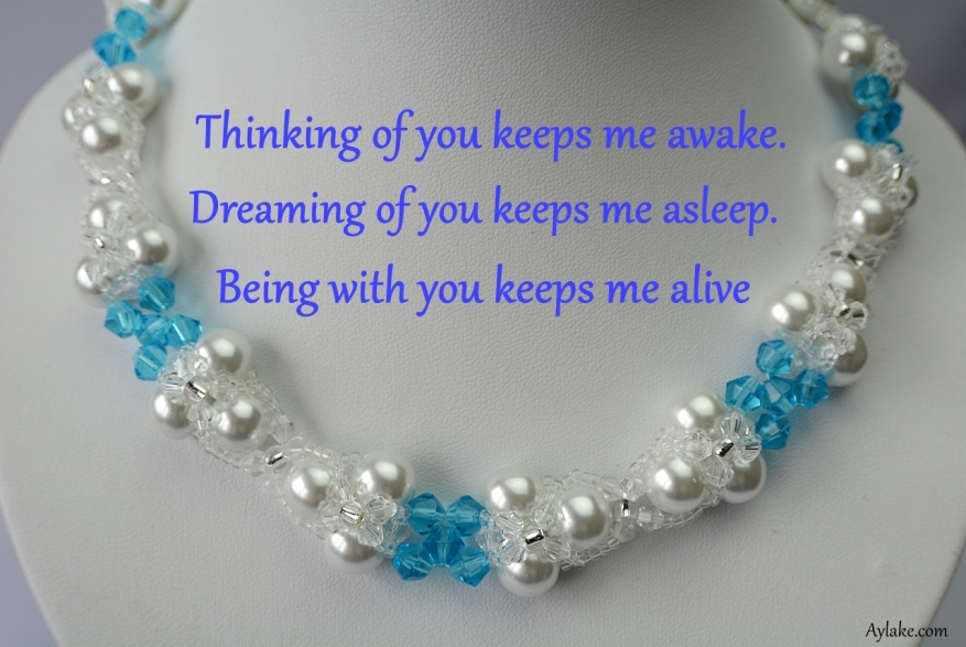 Evalyn Necklace Thinking of you keeps me awake Beading tutorial Aylake ailaviu