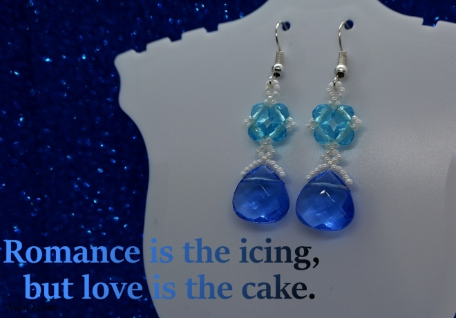 Isabella Earrings Romance is the icing but love is the cake beading tutorial Ailaviu Aylake