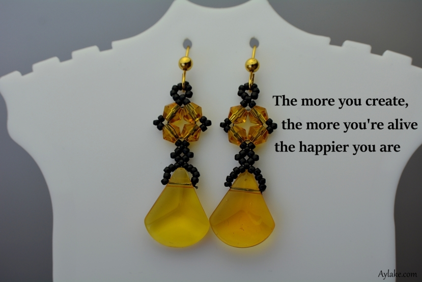 Isabella Earrings The more you create the more you are alive Beading Tutorial Ailaviu Aylake