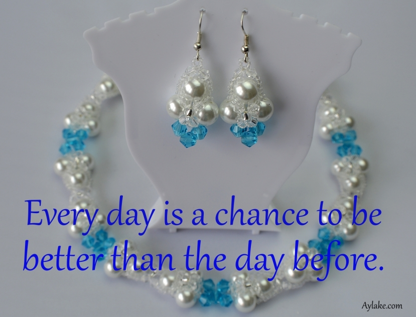 Lyn Earrings Every day is a chance to be better than the day before beading tutorial aylake ailaviu