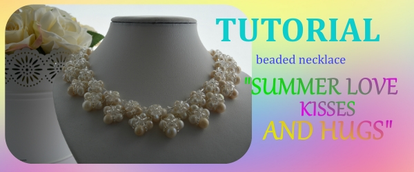 Summer Love Hugs And Kisses beaded necklace beading tutorial Aylake Ailaviu