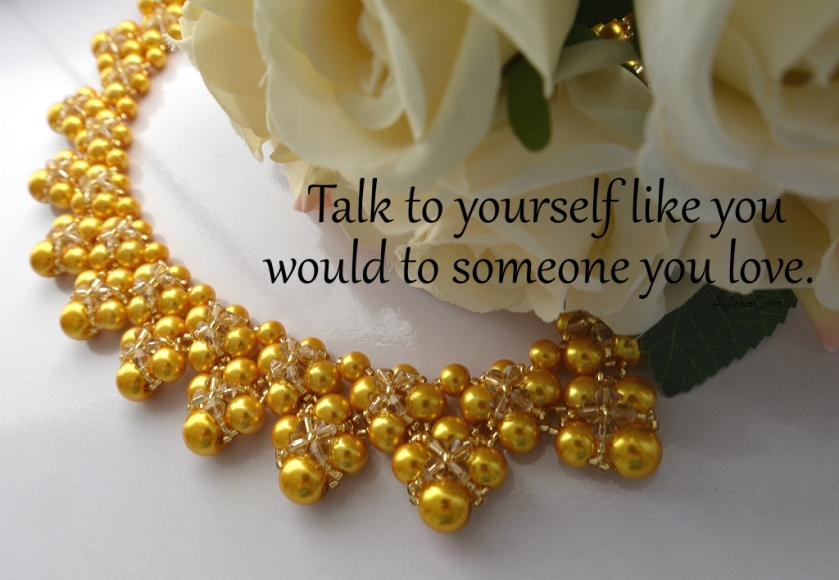 Summer Love Kisses And Hugs Beaded necklace Talk to yourself like you would to someone you love beading tutorial aylake ailaviu