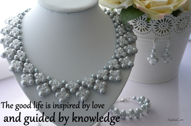Summer Love Kisses And Hugs Beaded necklace The good life is inspired by love and guided by knowledge beading tutorial aylake ailaviu