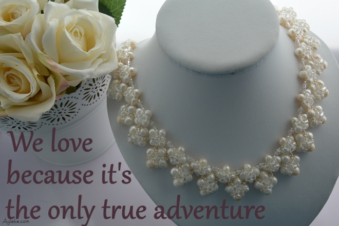 Summer Love Kisses And Hugs beaded necklace We love because its the only true adventure beading tutorial aylake ailaviu