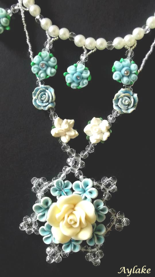 Blue Roses If You Wear Things You Adore You Just Look Better Aylake Necklace 1