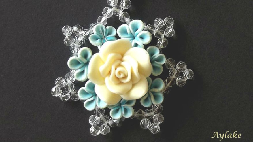 Blue Roses If You Wear Things You Adore You Just Look Better Aylake Necklace 2