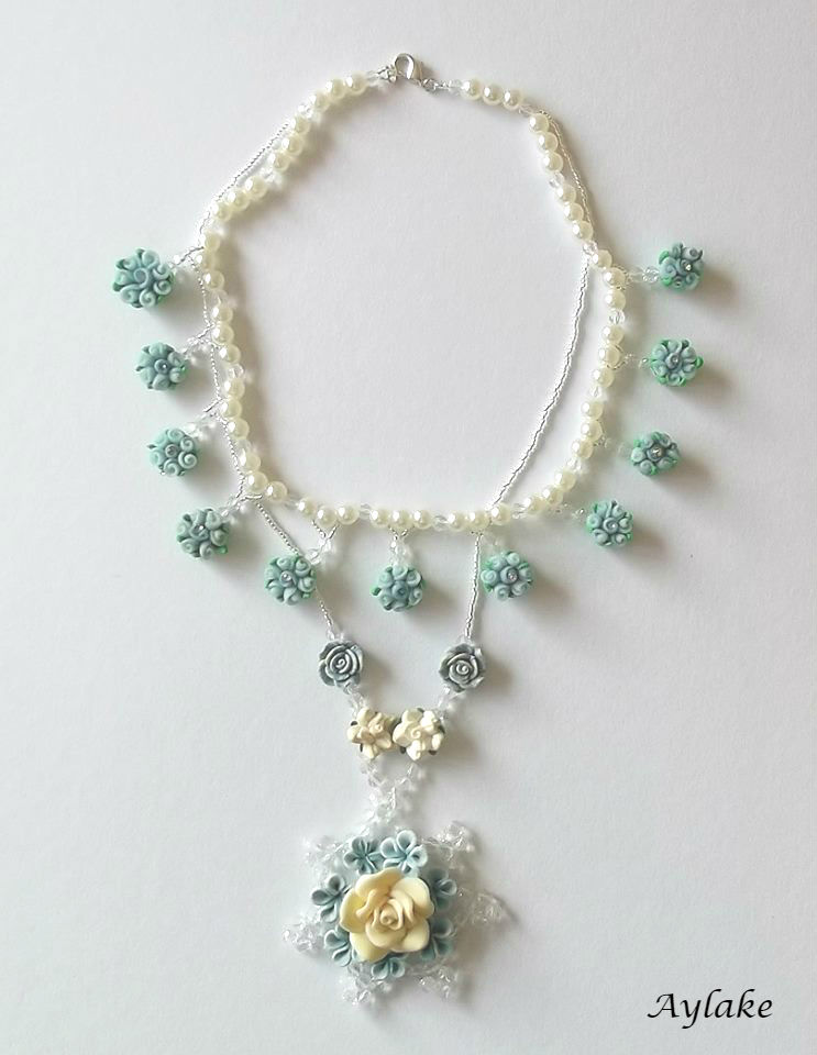 Blue Roses If You Wear Things You Adore You Just Look Better Aylake Necklace 4