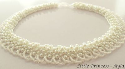 Little princess The world and pearls are sweet necklace aylake 3