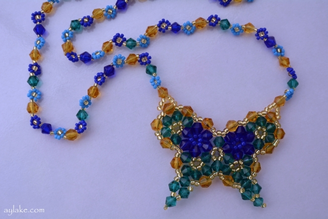 Butterflies are like dream flowers Beaded Necklace Aylake 8