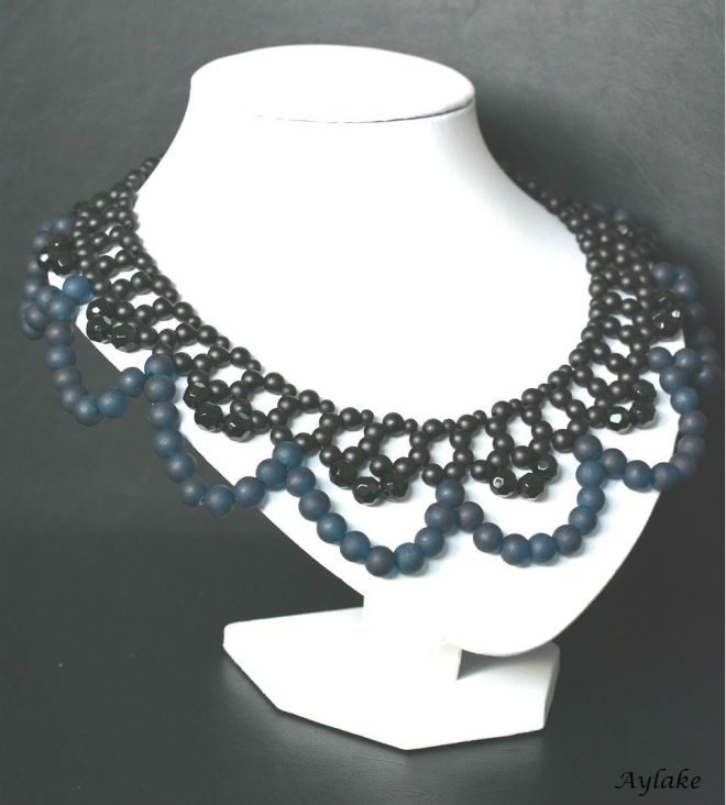 Classic collar beaded necklace aylake 2