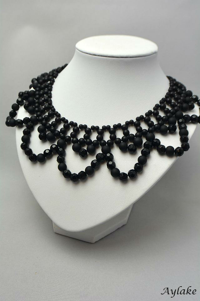 Classic collar beaded necklace aylake 7