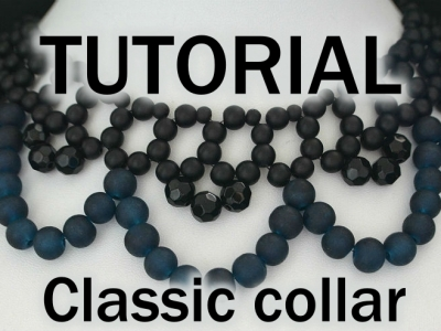 Classic collar beaded necklace aylake 4