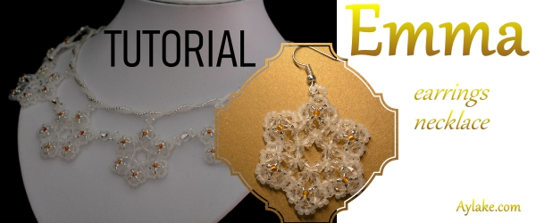 Emma A Snowflake Never Falls In The Wrong Place Earrings Beaded Aylake 1