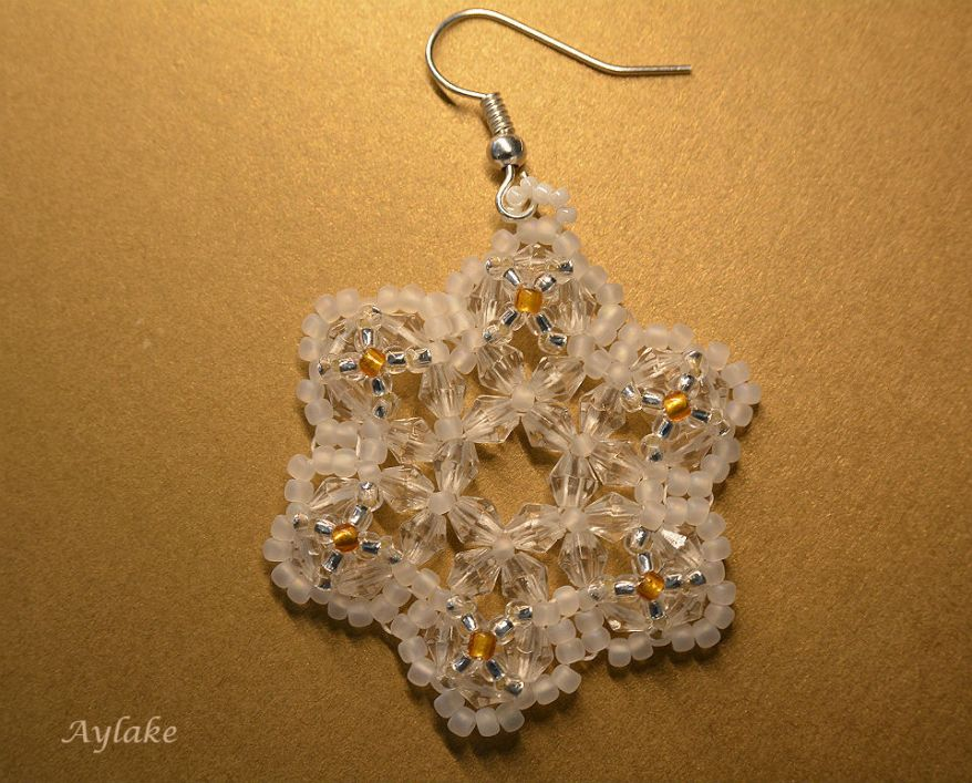 Emma A Snowflake Never Falls In The Wrong Place Earrings Beaded Aylake 2
