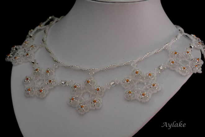 Emma A Snowflake Never Falls In The Wrong Place Earrings Beaded Aylake 4