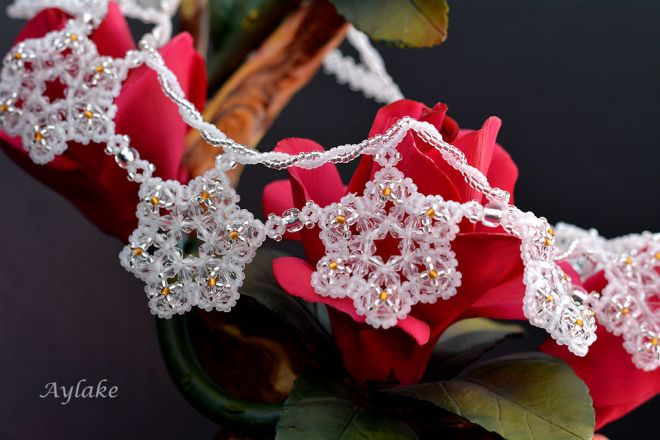 Emma A Snowflake Never Falls In The Wrong Place Earrings Beaded Aylake 5