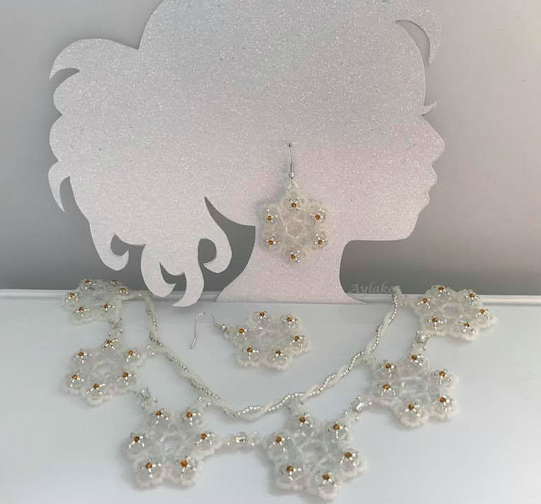 Emma A Snowflake Never Falls In The Wrong Place Earrings Beaded Aylake 7