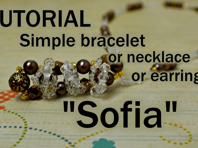 Sofia beaded simple bracelet necklace earrings tutorial aylake 2
