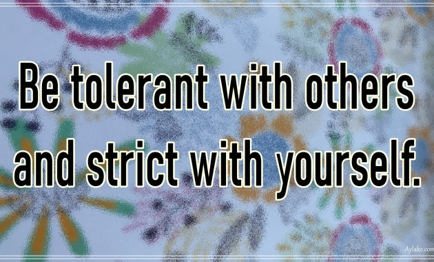 Discipline quotes Be tolerant with others and strict with yourself Aylake