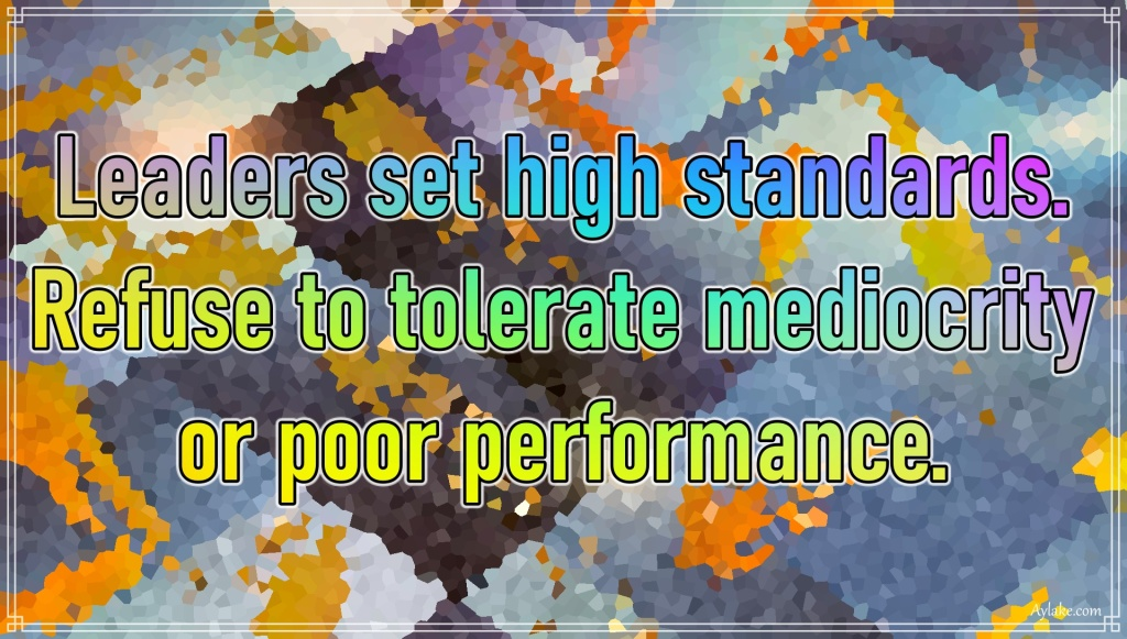 Life quotes Leaders set high standards Aylake